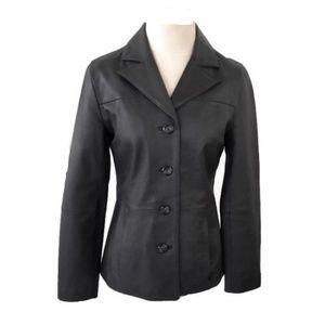 Wilsons Leather Black Jacket/Blazer